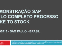 SAP – Demonstração Ciclo Completo Make to Stock